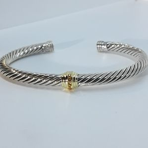 DAVID YURMAN 5mm Gold Station Bracelet w Citrine